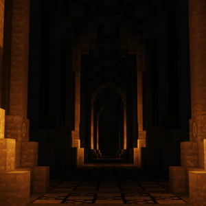 An alley in Moria.