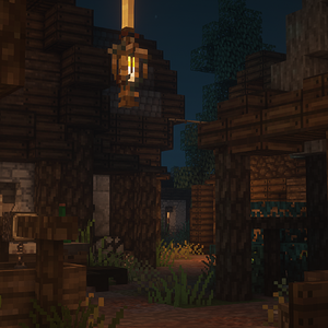 Anorien Village at Night