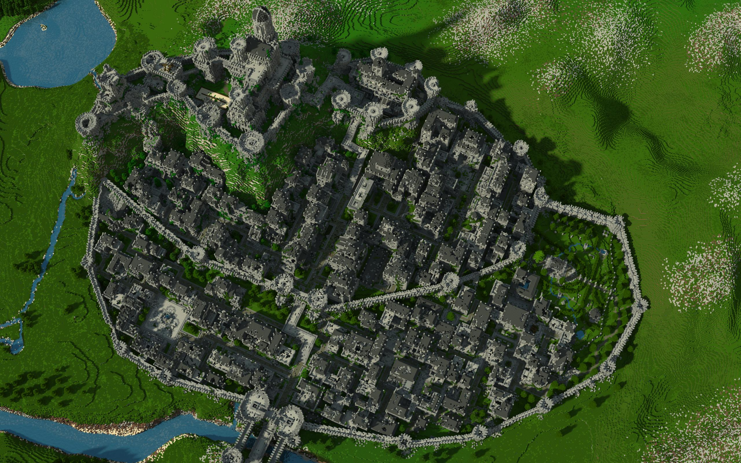 Megga S Render Of Fornost Minecraft Middle Earth