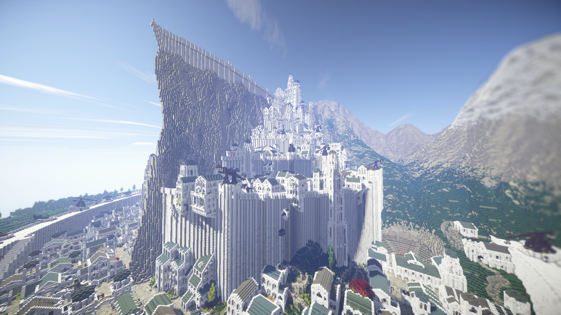 Minas Tirith Minecraft Middle Earth