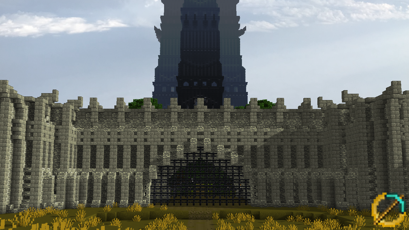The Outer Gate Of Isengard Minecraft Middle Earth