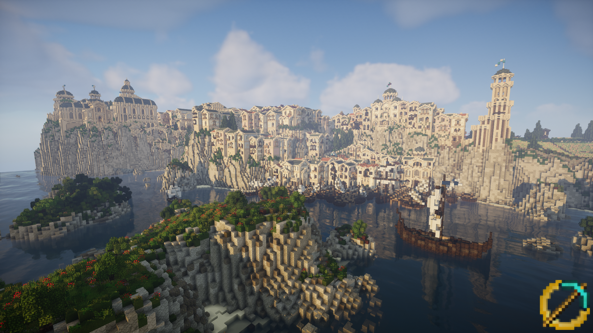 View on the Sea Town in Dol Amroth